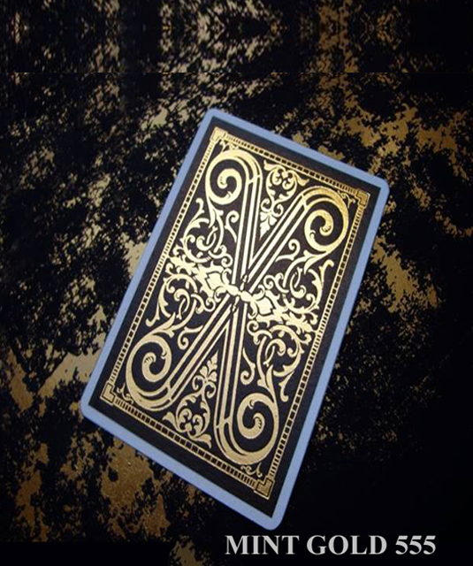 Mint Gold 555 Marked Playing Cards